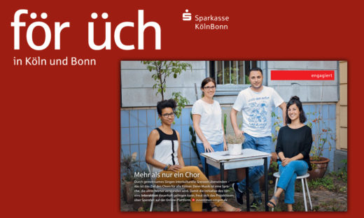 """""""Zusammen Singen"""" im Kundenmagazin der Sparkasse KölnBonn"""